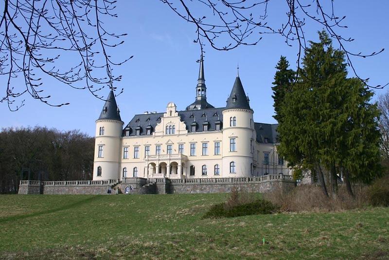 Aerial photograph of Schwerin Castle, Mecklenburg-Vorpommern ...