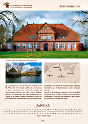 Grundshagen manor in calendar 2016
