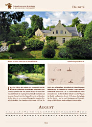 Dalwitz manor in calendar 2016