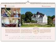 Wrangelsburg manor house in calendar 2021