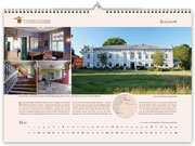 Roggow manor house in calendar 2021