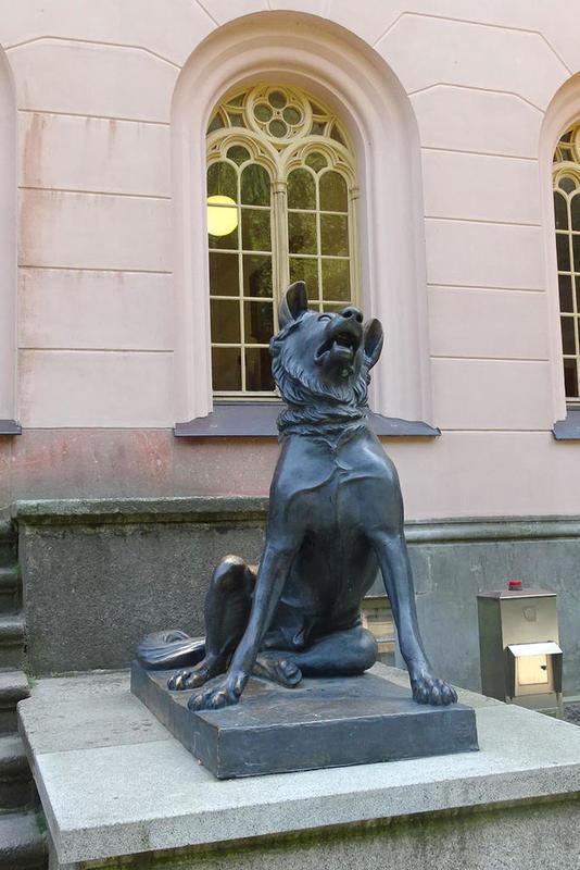 Hund Metallguss Vor Dem Eingang Jagdschloss Granitz Lightbox
